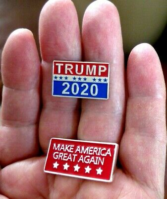 """MAKE AMERICA GREAT AGAIN"" and TRUMP 2020 Pins, High Quality, Raised Lettering"