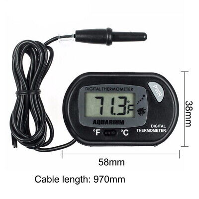 LCD Digital Fish Tank Reptile Aquarium Water Meter Thermometer Temperature USA