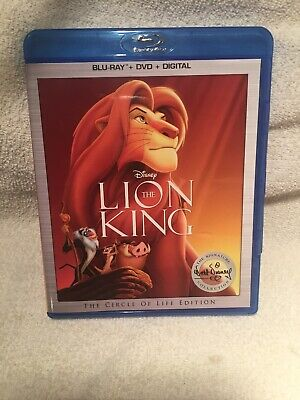 The Lion King (Blu-ray/DVD, 2017, 2-Disc Set,2017)
