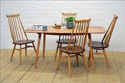 vintage Ercol blonde dining table kitchen table plank  elm beech UK DELIVERY