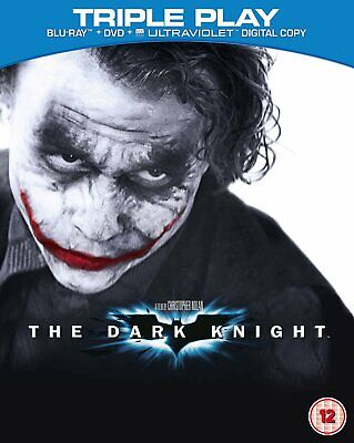 The Dark Knight (Blu-ray and DVD Combo, 2012, 3-Disc Set) FREE SHIPPING