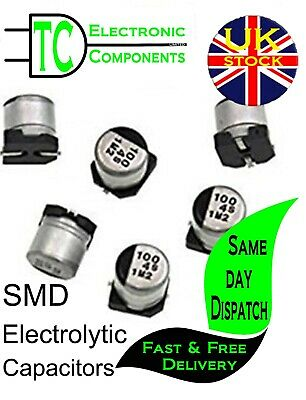 SMD Aluminium Electrolytic Capacitors 50V Different Values Available *UK SELLER*