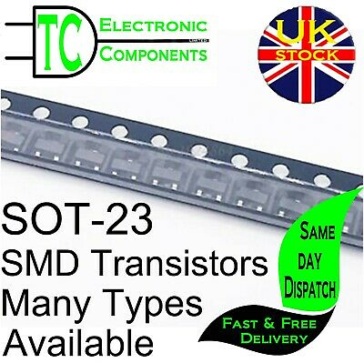 SOT-23 SMD Transistors Many Types Available 10 pack **UK SELLER** Free P&P