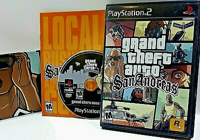COMPLETE grand theft auto San Andreas BLK GTA Sony PlayStation PS2 VIDEO GAME
