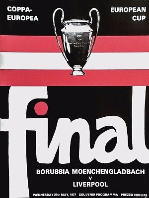 1977 European Cup Final Borussia Moenchengladbach v Liverpool MINT CONDITION