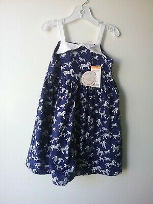 New Gymboree Girls Swiss Dot Corsage Dress NWT 2T Blue Safari Easter Holiday