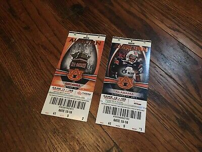 "Auburn 2013 Iron Bowl vs. Alabama Football ""KICK SIX"" Ticket Stub + vs. UGA"