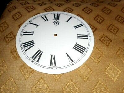 """Round Junghans Paper Clock Dial -  5"""" M/T -GLOSS WHITE-Clock Parts/Spares"""