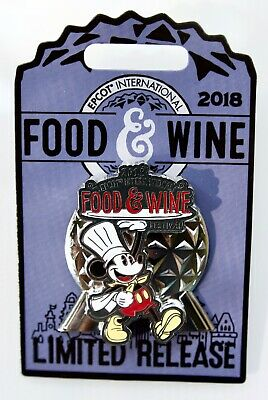 Disney Epcot 2018 Food & Wine Festival Chef Mickey/Space Ship Earth Lr Pin New