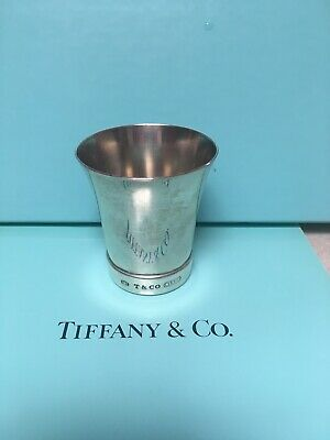 Tiffany & Co. sterling silver 1837 jigger shot glass cup vintage very rare 925