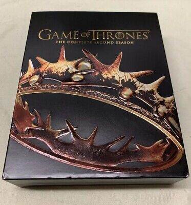 Game of Thrones The Complete Second Season 2 7 Disc Blu Ray DVD Set Slip Cover!