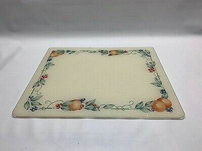 Corelle Garden Lace 15 X 12 inch Counter Saver Tempered Glass Cutting Board