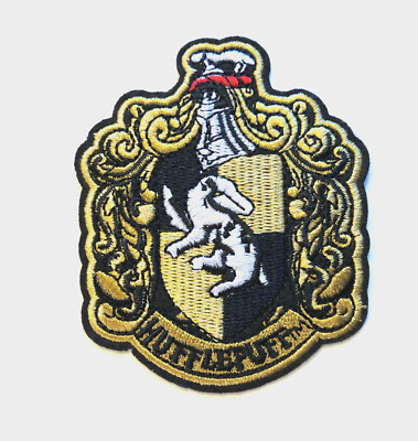 3''X 3.5'' Harry Potter Hogwarts House Hufflepuff  Embroidered  Iron-On Patch