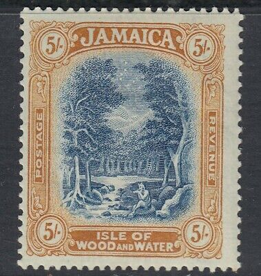 JAMAICA-1923 5/- Blue & Yellow-Brown Sg 105 MOUNTED MINT