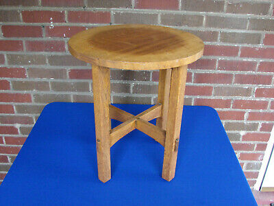Stickley Cabinetmakers Arts & Crafts Quarter Sawn Oak Table Plant Stand