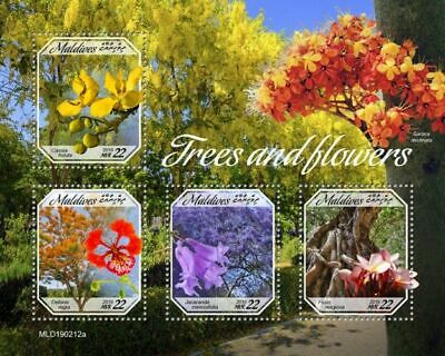 Z08 IMPERF MLD190212a MALDIVES 2019 Trees and flowers MNH ** Postfrisch