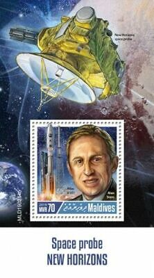 Z08 IMPERF MLD190214b MALDIVES 2019 Space Probe New Horizons MNH