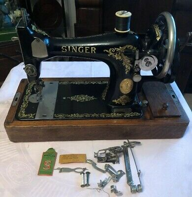 Vintage Singer Sewing Machine 128k With Case & Accessories 1923 New Price
