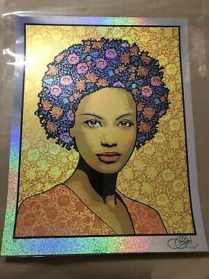 Chuck Sperry ATHENA Screen Print Sparkle Foil  #ed 1/10 SOLD OUT SIGNED Mint