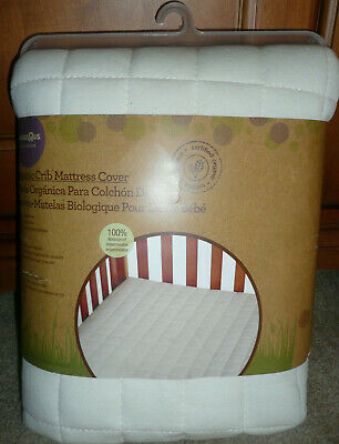 BABIES R US ivory Organic crib mattress cover waterproof quilted unisex