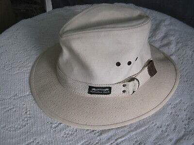 92c64efb PANAMA JACK * Men Canvas Fedora Hat * New Safari Summer Sun Golf ...