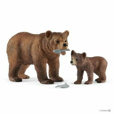 Schleich 42473 Grizzly Bear & Cub Wild Animal Model Toy Figurines 2019 - NIP