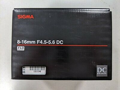 Sigma 8-16mm f/4.5-5.6 DC HSM Wide Angle Lens for Canon DSLR Cameras