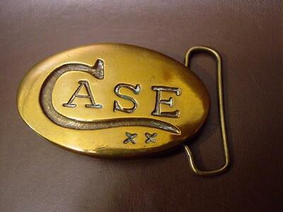 Vintage Case XX Solid Brass Belt Buckle