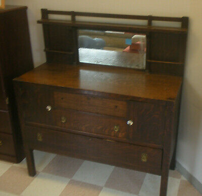 Antique Mission Oak Arts and Crafts Limbert? Stickley? Sideboard Buffet
