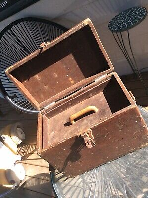 Vintage 30s GPO Post Office Telegraph Workers Box. Solid, Heavy, Stunning, Rare