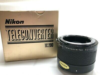 Nikon TC-200 2x Teleconverter Lens with box