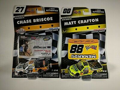 2019 NASCAR Authentics Wave 3 Chase Briscoe Ford Matt Crafton Menards ERROR