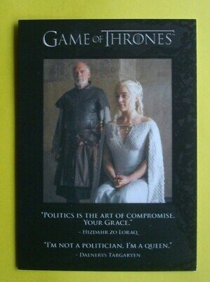 2016 *GAME Of THRONES* Quotable # Q43 Season 5 Insert/Chase Card Daenerys CLARKE