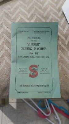 Singer Sewing Machine No.66 Instruction Manual