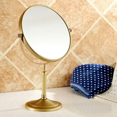 Antique Brass Beauty Makeup Cosmetic Double-Sided Magnifying Mirror yba642