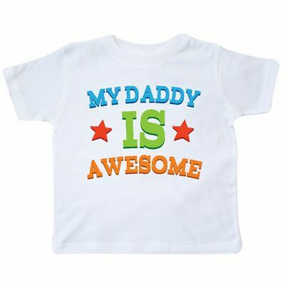 dce8fb25 Inktastic My Daddy Is Awesome Toddler T-Shirt Dad Babys 1st Fathers Day  First