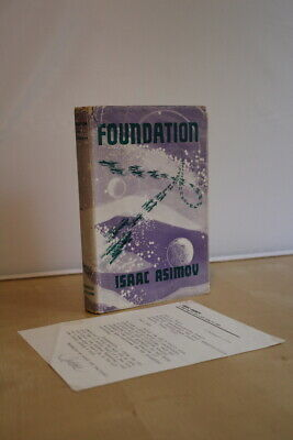 Issac Asimov (1953) 'Foundation', UK first edition with signed letter
