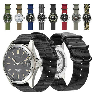 20mm 22mm Durable Military Woven Nylon Watch Band Strap For Seiko Diver's Watch