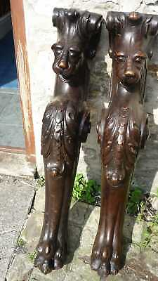 Fine Pair Of 17th Century Carved Walnut Lions