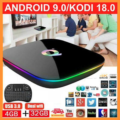 2019 LATEST Version Android Smart TV Box Q+ PRO 4K HD WIFI Quad-Core 18
