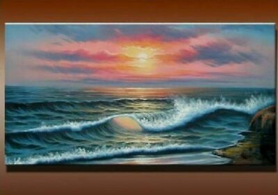 Huge Modern Abstract Sea View Oil Painting Art Home Decor Wall on Canvas