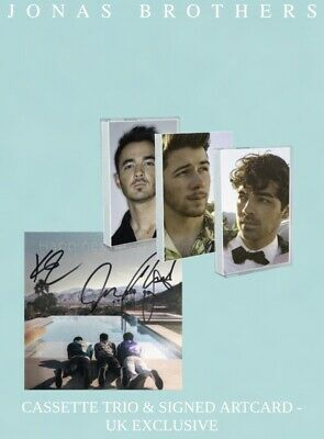 Jonas Brothers Happiness Begins 3x Cassette Signed Autographed LTD UK EXCLUSIVE