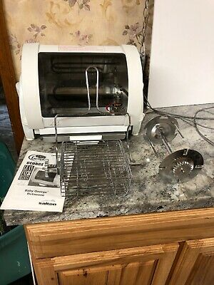 Baby George Foreman Indoor Rotisserie Grill Chicken Oven Compact Works
