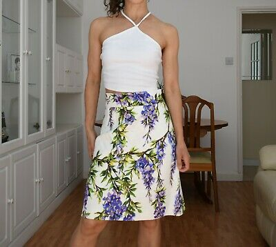 9f560f49 DOLCE & GABBANA Silk Appliqué-Accented Skirt New with tags 2015 ...