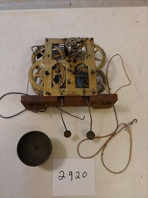 Antique Jerome Ogee Clock 30 Hour Movement With Strike Bell & Alarm