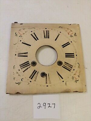 Antique William S. Johnson Ogee Clock Wooden  Dial From 30 Hour Movement
