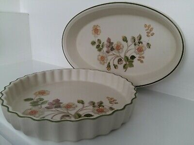 Marks and Spencer Autumn Leaves Oval Oven Dish & Flan Quiche Pie Tart Dish