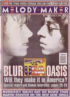0661 Vintage Music Poster Art - Blur v Oasis Will They make It In America