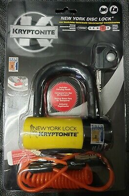 Lucchetto Disco Kryptonite New York Disc Lock Giallo Nero Con Custodia Cavo Disc