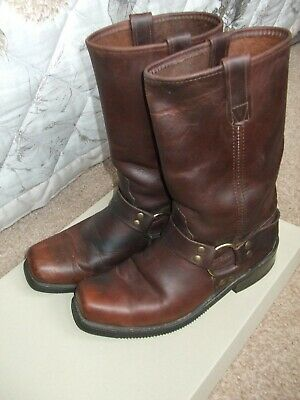 Double H Brown Leather Harness Boots # 4005 / US Men 9.5 D / Pre-owned